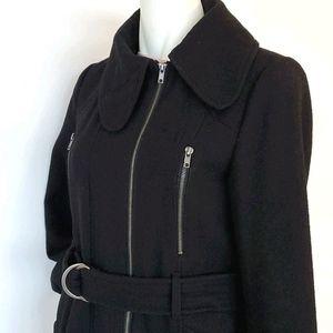 Lady Dutch Black Dress Wool Coat